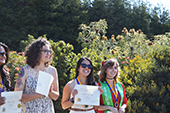 Photo: Anthropology graduates receiving awards