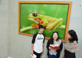 Students at the Environmental Studies Department with Flora Lu.