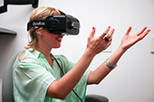 Photo: Oculus Rift in action