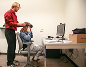 Photo: Using the Oculus Rift