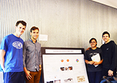 Photo: Anthro students with poster