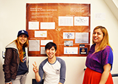 Photo: Photo: Anthro students with poster