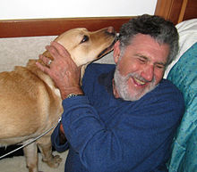 elliot aronson with guide dog
