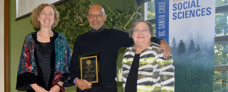 Distinguished Social Sciences Emeriti Award recipient John Brown Childs, professor emeritus of sociology.
